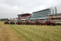 Flemington Race Track, verti draining with 12mil tynes @ 5m deep, approximately 240 holes per sqm or 2 million 400,000 holes per hec.  10 hec = 24 million holes.  This took 5hrs to do 10 hectares.